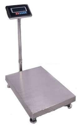 Balanza Digital de Plataforma 50x40cm cap. Max. 300 Kgs, con indicador HAUXI bateria recargable. kgs/ lbs/oz.