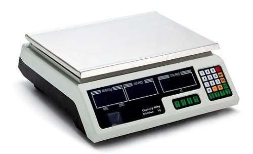 Balanza Santory calculadora de precio/contadora sin torre, bat. recargable cap. max. 30Kgs/66lbs